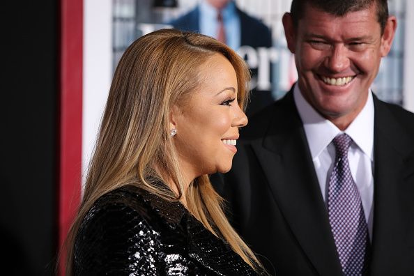 NEW YORK, NY - SEPTEMBER 21: Mariah Carey and James Packer attend 'The Intern' New York Premiere at Ziegfeld Theater on September 21, 2015 in New York City. (Photo by Neilson Barnard/FilmMagic)