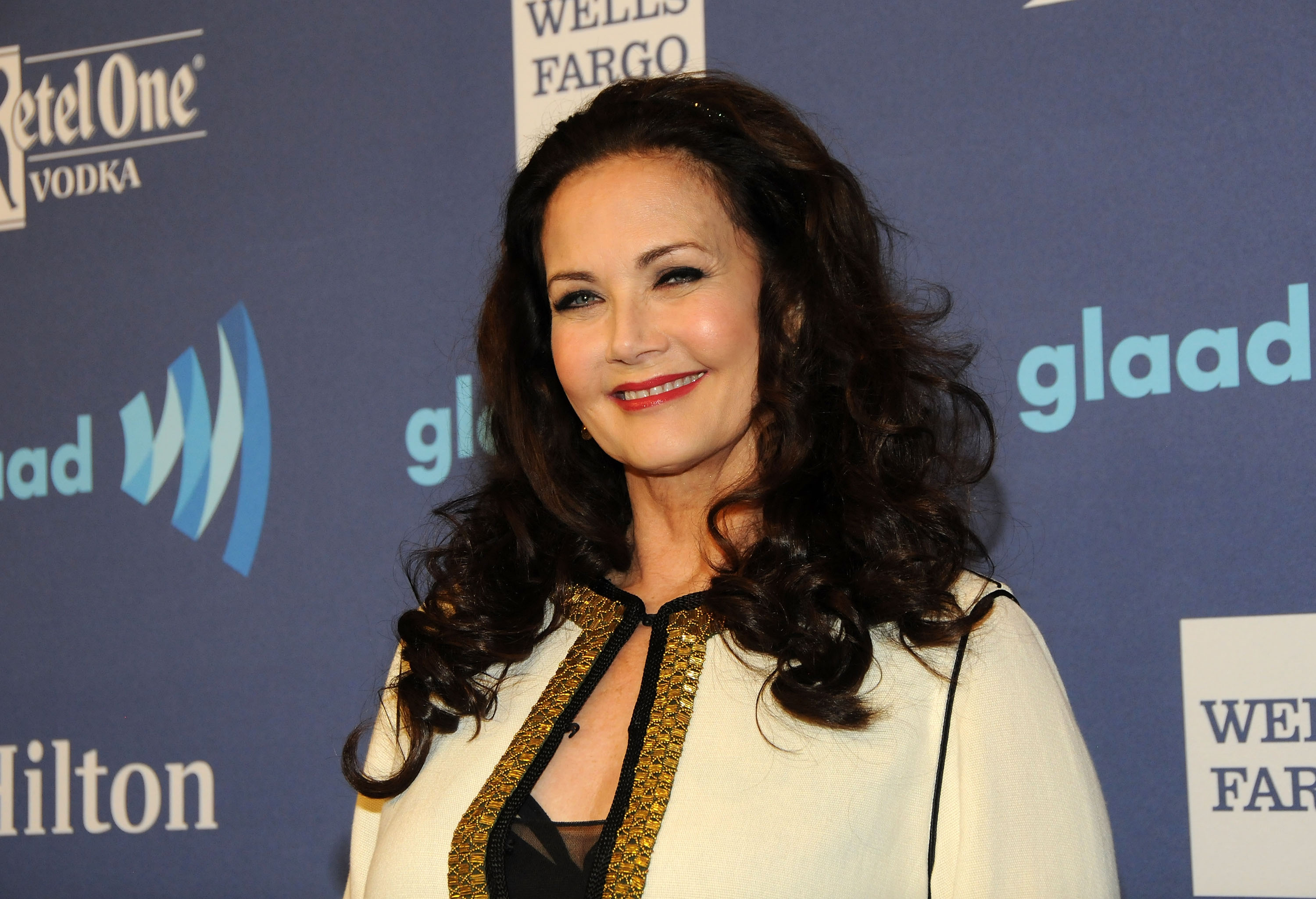 NEW YORK, NY - MAY 09: Lynda Carter attends the 26th Annual GLAAD Media Awards at The Waldorf Astoria on May 9, 2015 in New York City. (Photo by Desiree Navarro/WireImage)