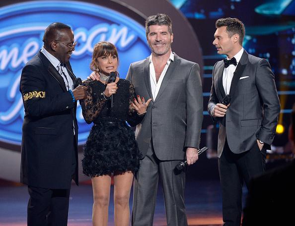 Randy Jackson, Paula Abdul, Simon Cowell y Ryan Seacrest.