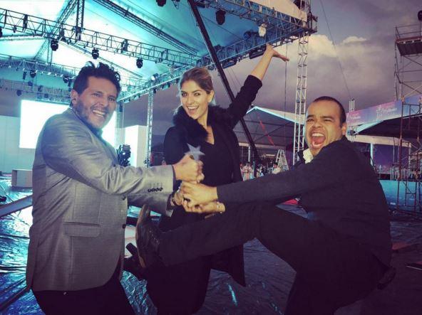 Laura Tobón, Marcelo Cezán y Carlos Vargas.