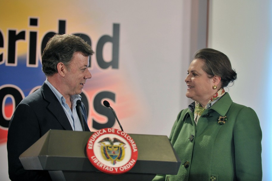 Juan Manuel Santos y Clara López