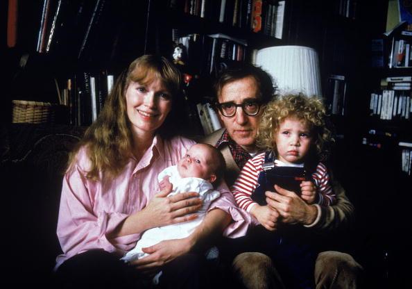 Woody Allen, Mia Farrow e hijos.