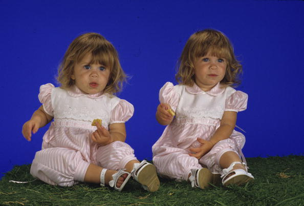 UNITED STATES - APRIL 11: FULL HOUSE - Olsen twins gallery - Season One - 4/11/88, Ashley Olsen (left) and her twin sister, Mary Kate, played Michelle Tanner, the youngest of three daughters of widower Danny Tanner., (Photo by Bob D'Amico/ABC via Getty Images)