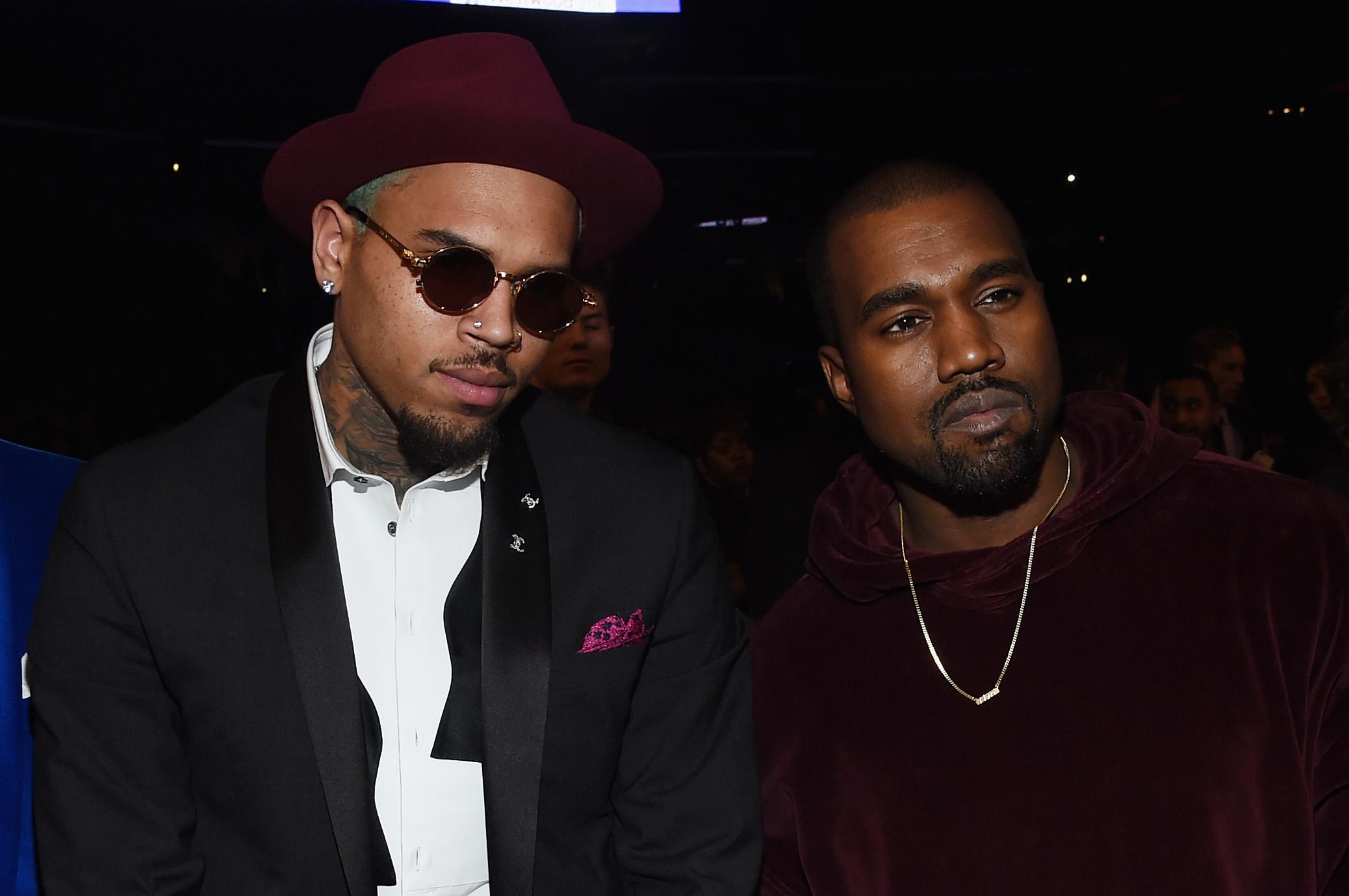Chris Brown y Kanye West