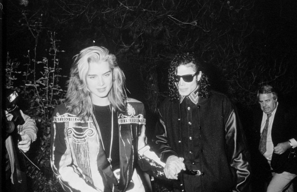 Brooke Shields y Michael Jackson