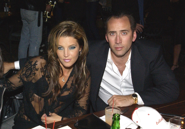 Nicolas Cage y Lisa Marie Presley