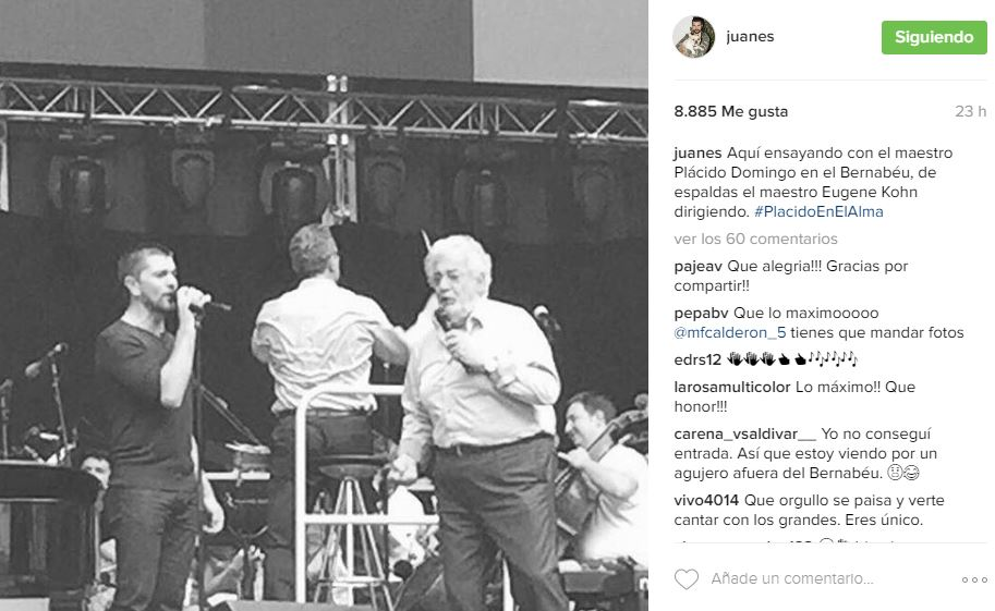 Juanes y Plácido Domingo