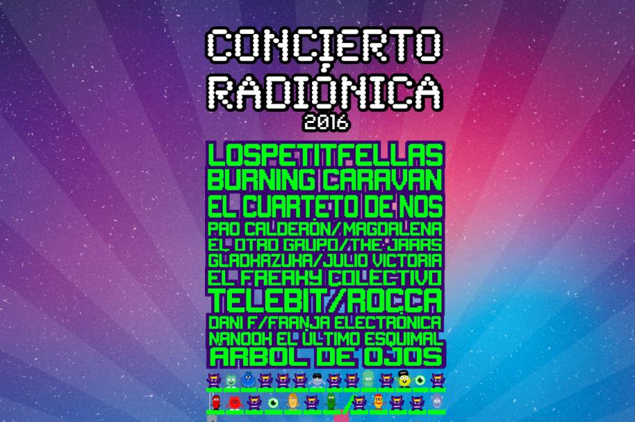 Cartel concierto radiónica