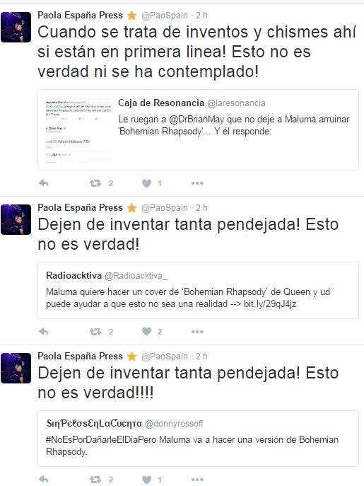 Paola España tuits