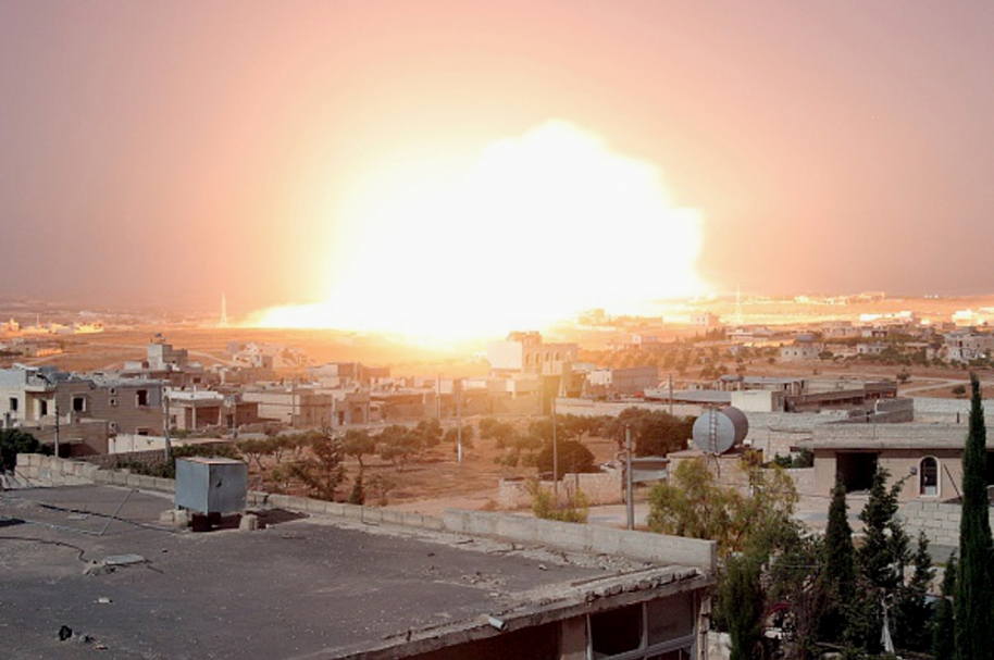 Bombardeo norte de Siria