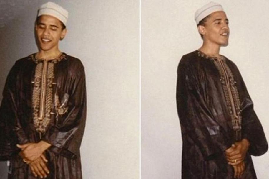 Obama en traje musulmán
