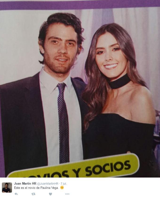 Paulina Vega y su novio