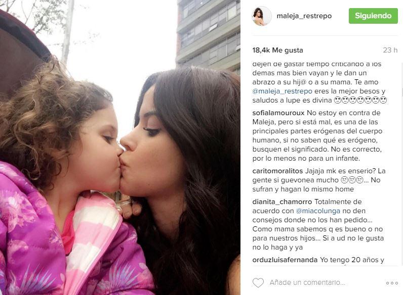 Maleja Restrepo beso hija