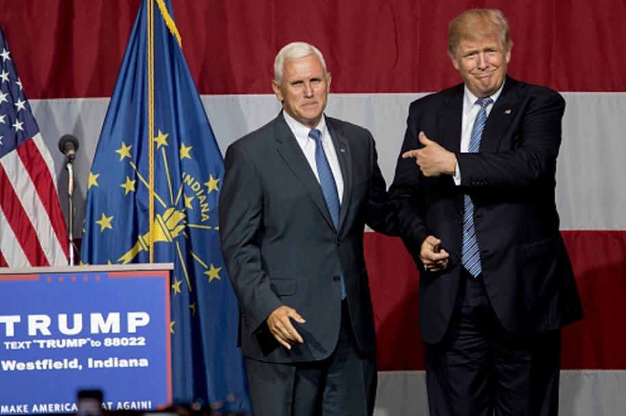 Pence y Trump