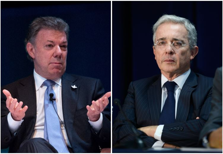 Juan Manuel Santos / Álvaro Uribe.