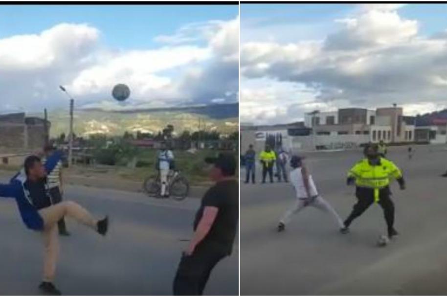 Policías y camioneros juegan partido de fútbol - Pulzo.com