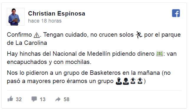 Facebook Christian Espinosa