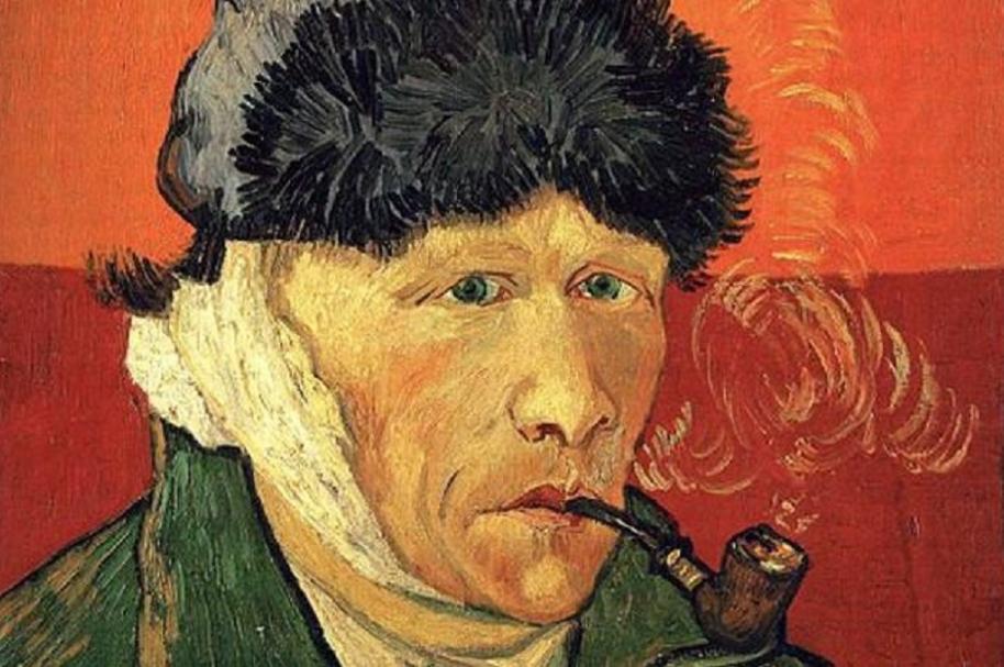 Vincent Van Gogh se pintó con la venda en su oreja