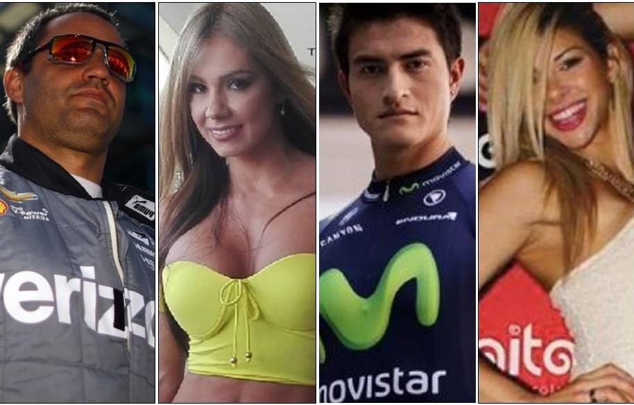 Juan Pablo Montoya, Esperanza Gómez, Wínner Anacona y Xoana González.