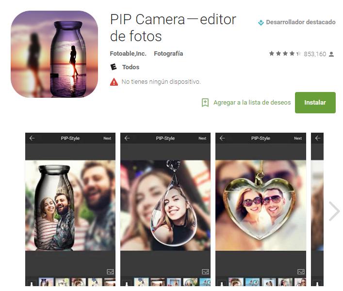 Aplicación para retocar fotos - pulzo.com