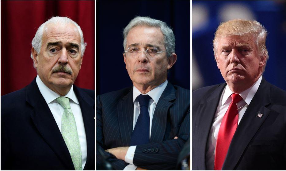 Andrés Pastrana, Álvaro Uribe y Donald Trump