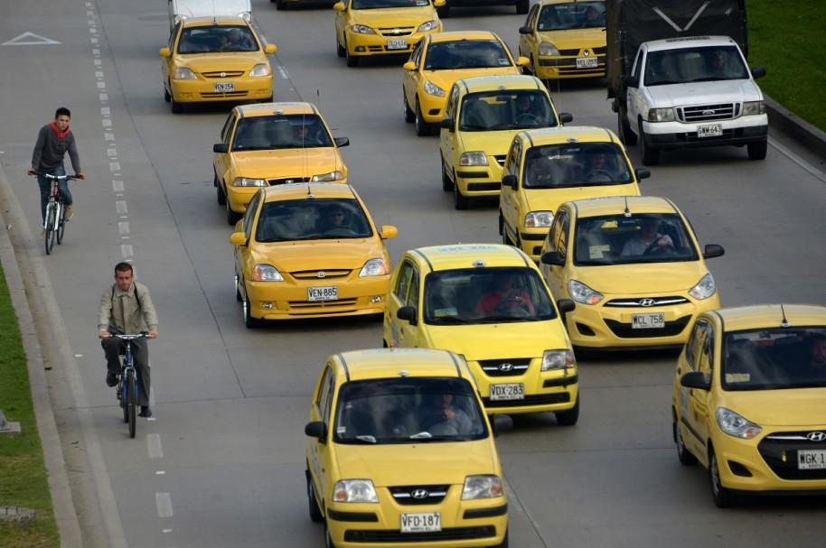 Taxistas de Bogotá