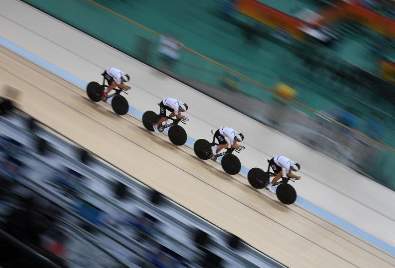 Ciclistas alemanes entrenan para los Juegos Olímpicos Río 2016.