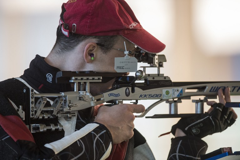 Entrenamiento de tiro para los Juegos Olímpicos Río 2016.