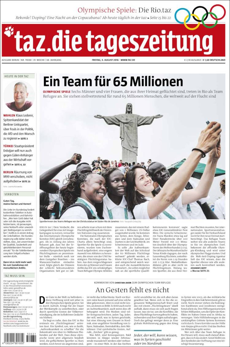 15 tageszeitung.750