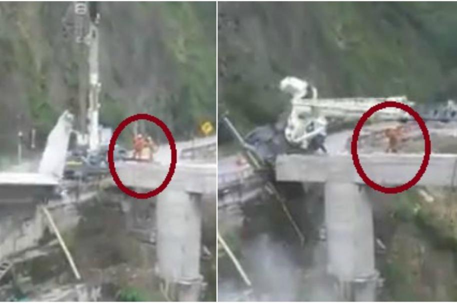 Accidente de grúa en Puente Quetame