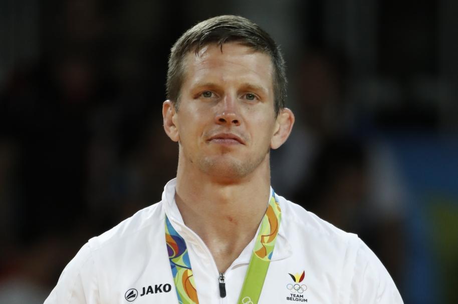 Dirk Van Tichelt en el podio de Río 2016