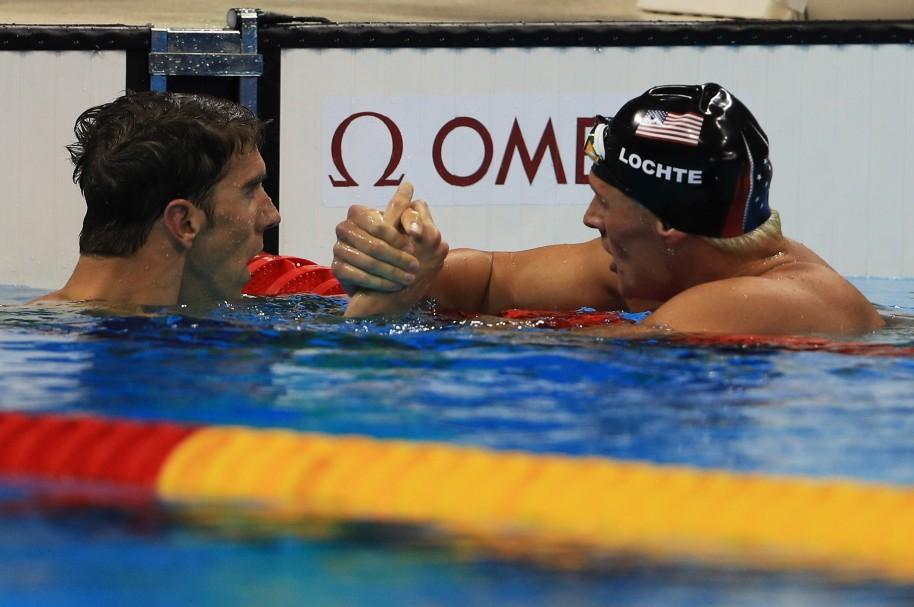 Michael Phelps y Ryan Lochte