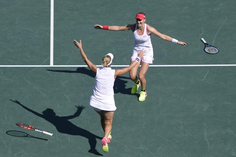 Tenistas rusas celebraron ganar la categoría de dobles femeninos. Pulzo.com