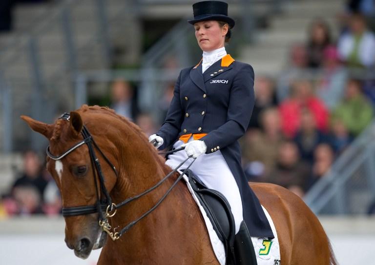 Adelinde Cornelisse y su caballo Parzival