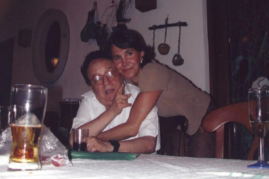 Roberto Gómez Bolaños y su esposa Florinda Meza.