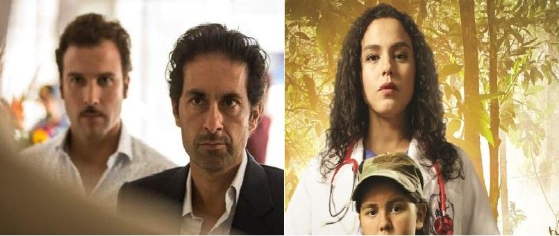Luis Fernando Hoyos, protagonista de 'En la boca del lobo' y Ana María Estupiñán, protagonista de 'La niña'