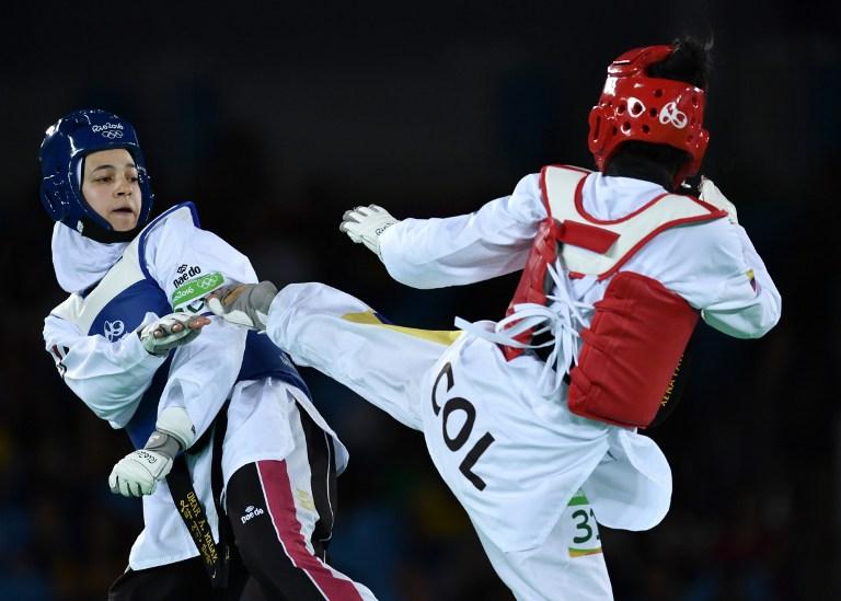 La colombiana Doris Patiño no clasificó a los cuartos de final de Taekwondo. Pulzo.com