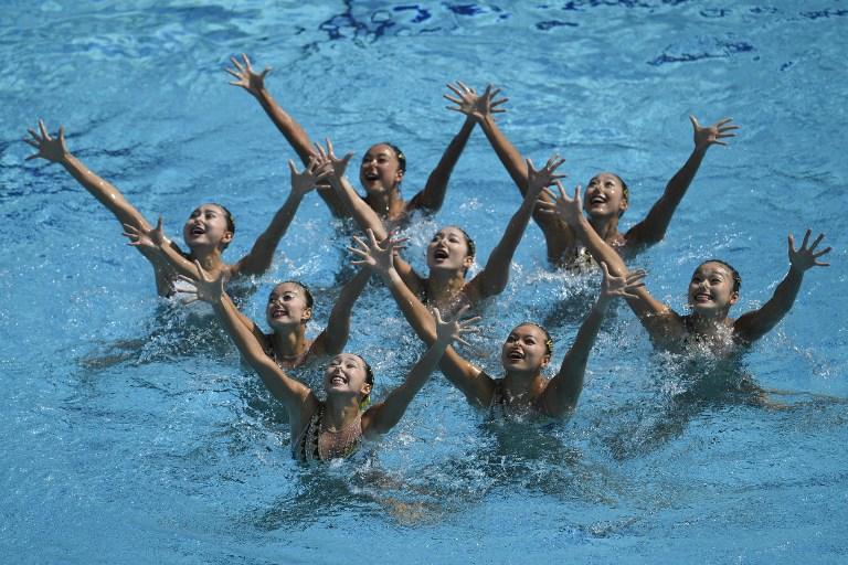 El equipo chino femenino de nado sincronizado. Pulzo.com