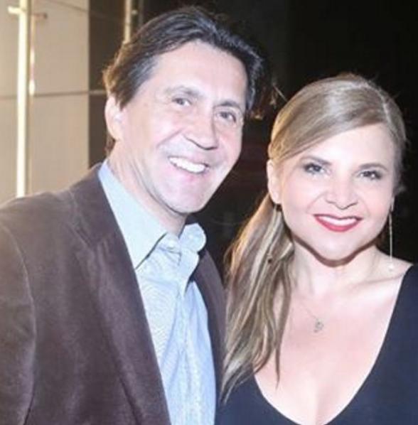 El empresario Ricardo Leyva y la presentadora de Noticias Caracol Diva Jessurum