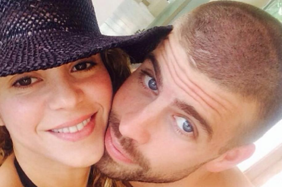 La cantante Shakira y su pareja, el futbolista del Barcelona Gerard Piqué