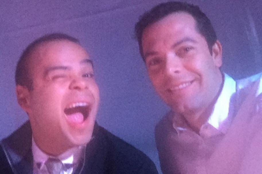 Los presentadores Carlos Vargas e Iván Lalinde