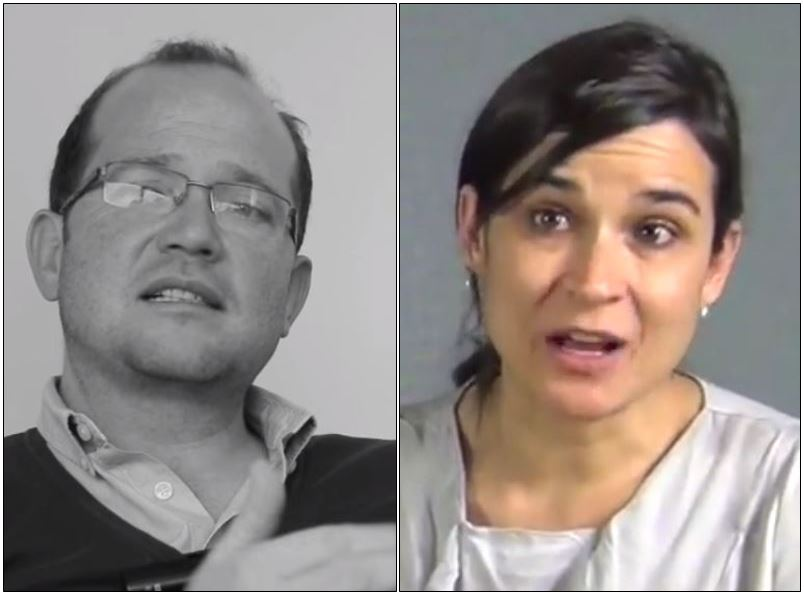 Daniel Samper Ospina y Carolina Sanín.