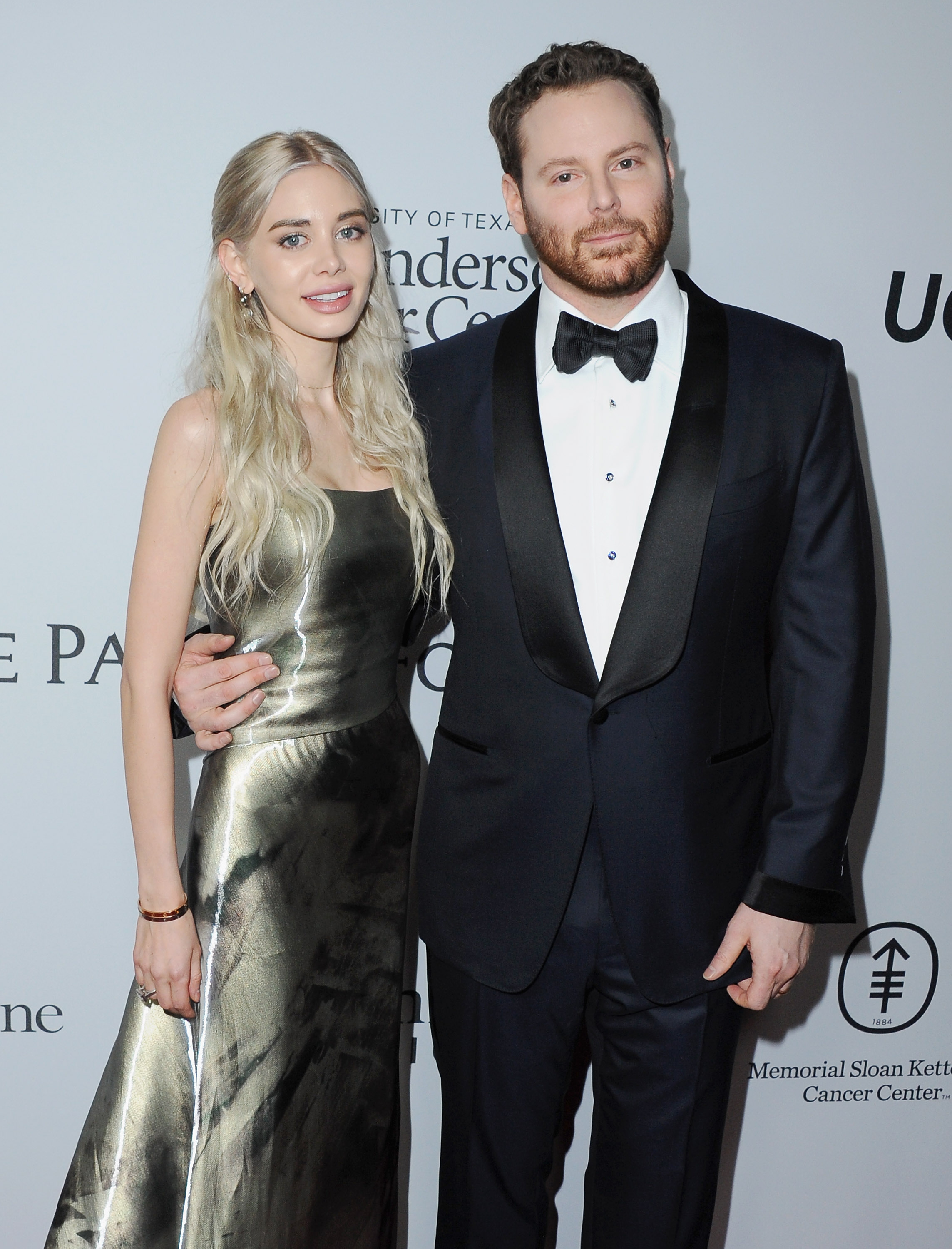LOS ANGELES, CA - APRIL 13: Sean Parker and wife Alexandra Lenas arrive at Sean Parker And The Parker Foundation Launch The Parker Institute For Cancer Immunotherapy Gala on April 13, 2016 in Los Angeles, California. (Photo by Jon Kopaloff/FilmMagic)