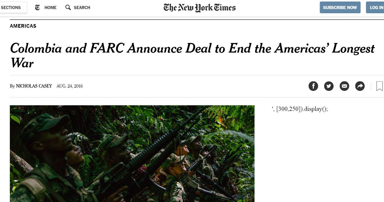 acuerdo nytimes