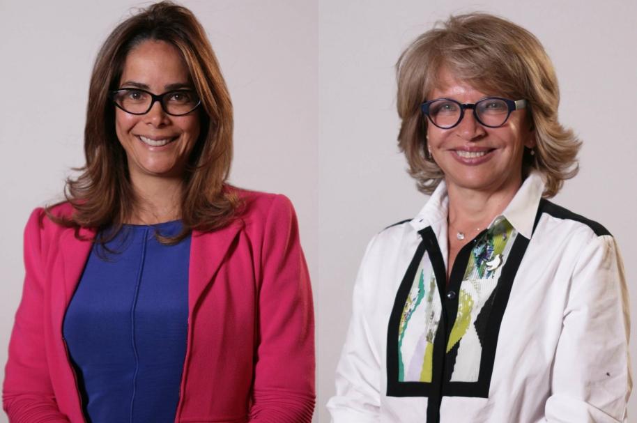 Gina Parody y Cecilia Álvarez