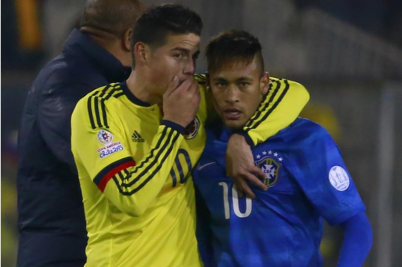 Neymar y James en Copa América 2015. Imagen de referencia.