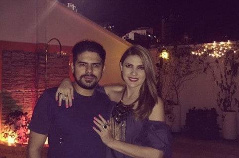 La presentadora Ana Karina Soto y su novio, el actor Alejandro Aguilar.