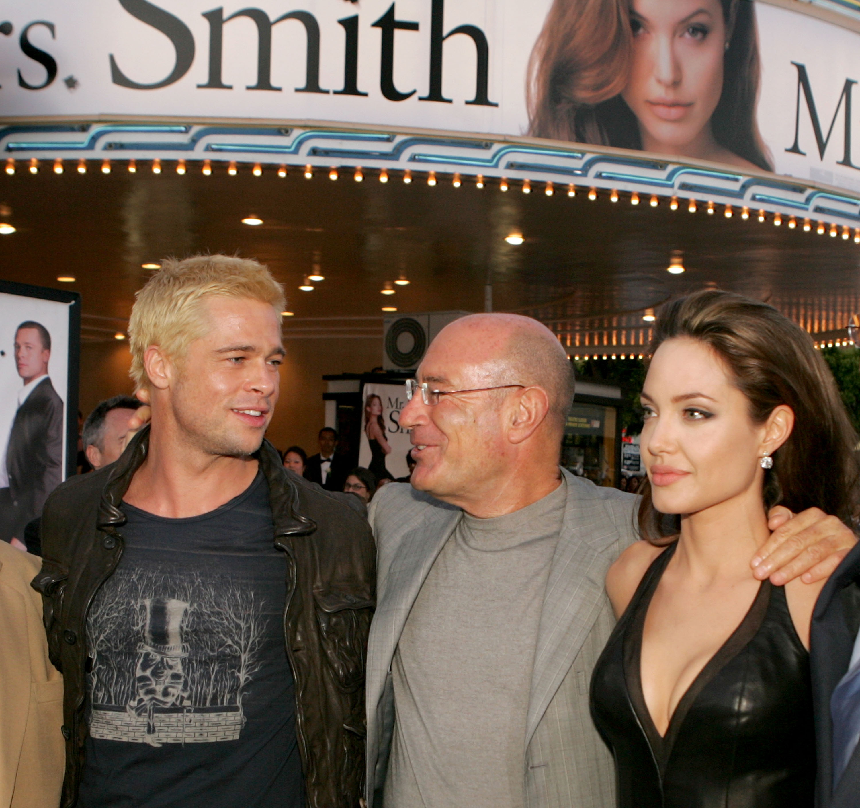 Brad Pitt y Angelina Jolie en la premier de 'Mr. and Mrs. Smith'