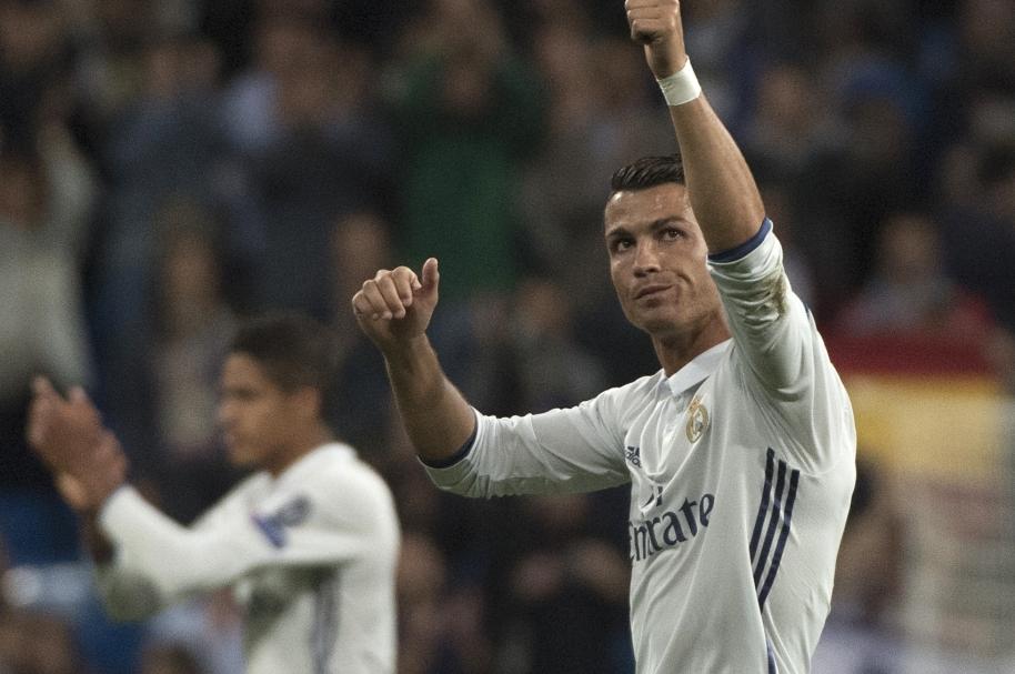 Cristiano Ronaldo en un partido de UCL