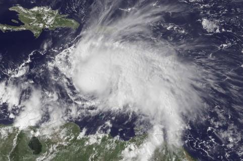 Huracán Matthew en su paso por el Caribe